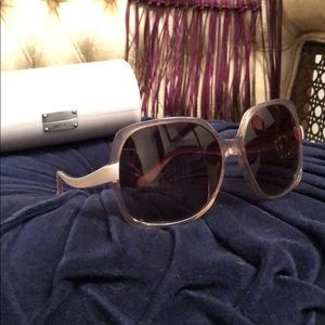 DVF Oversized Square Rose Pink Sunglasses